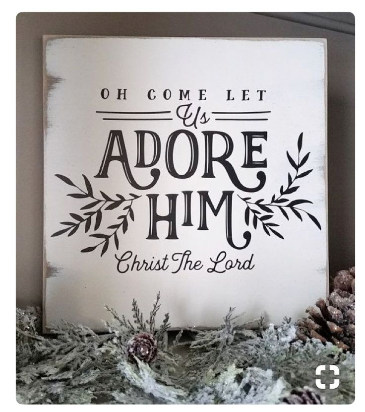 Oh Come Let Us Adore Him Wood Signs Christmas Signs Wood: Oh Come Let Us Adore Him Christmas