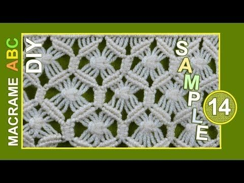 Macrame ABC - pattern sample #13 - YouTube