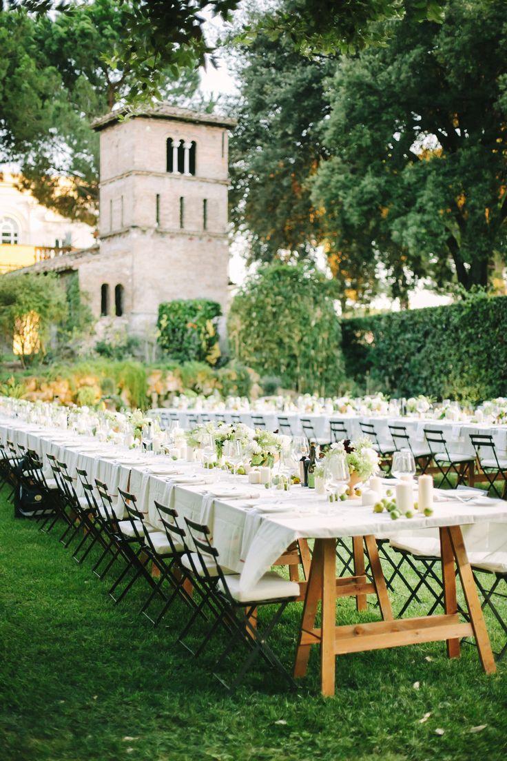 Romantic Rome Garden Wedding at Villa Aurelia