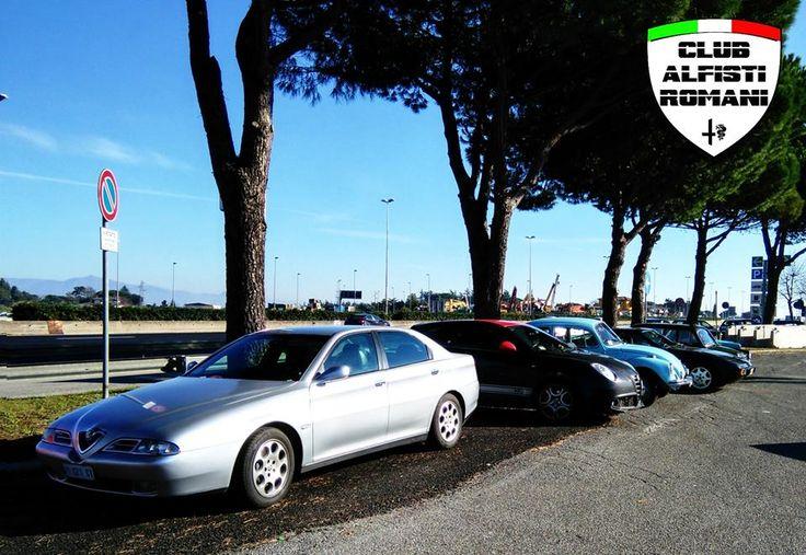 Incontro auto storiche con il Club Alfisti Romani all'area di servizio Settebagni domenica 21-12-2014. @alfaromeoglobal #Alfa #AlfaRomeo #AlfistiRomani https://www.facebook.com/alfistiromani #Alfa166V6 #AlfaMiTo #MiTo