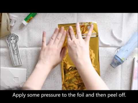 Amazing tips and techniques for adding foil with stamps, gels, stemcils, etc! Great ideas! #foil #video #tutorial