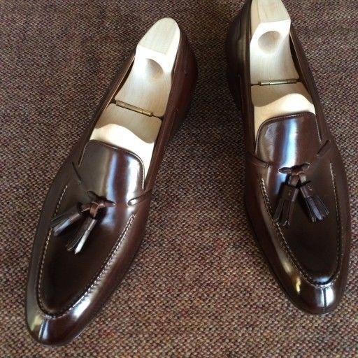 Handmade mens fashion Tassels moccasins shoes, Men brown formal shoes, Men shoes #Handmade #LoafersSlipOns #Formal