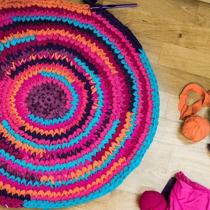 17 Best Ideas About Crochet Rag Rugs On Pinterest