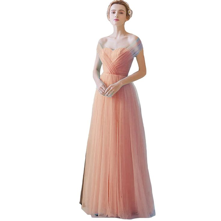 Lemai Women's Sweetheart Tulle Long Convertible Formal Corset Prom Bridesmaid Dresses >>> Check out this great image  : Bridesmaid dresses