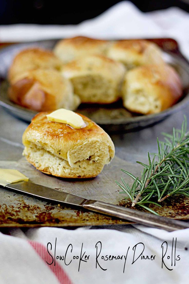 Make dinner rolls in a snap in your crock-pot! Slow-Cooker Rosemary Dinner Rolls