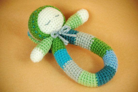 Crochet Baby Boy Rattle on Etsy