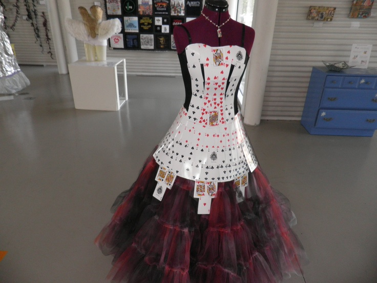Dress made from playing cards...stunning combination of ...