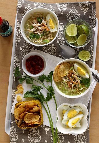 Love this, Madura Chicken Soup - soto ayam Madura