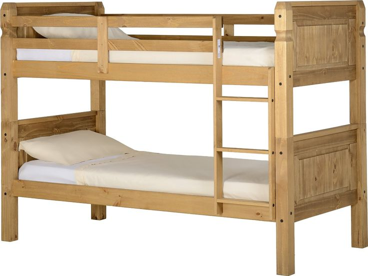 Corona 3' Bunk Bed in Distressed Waxed Pine: Amazon.co.uk: Kitchen & Home
