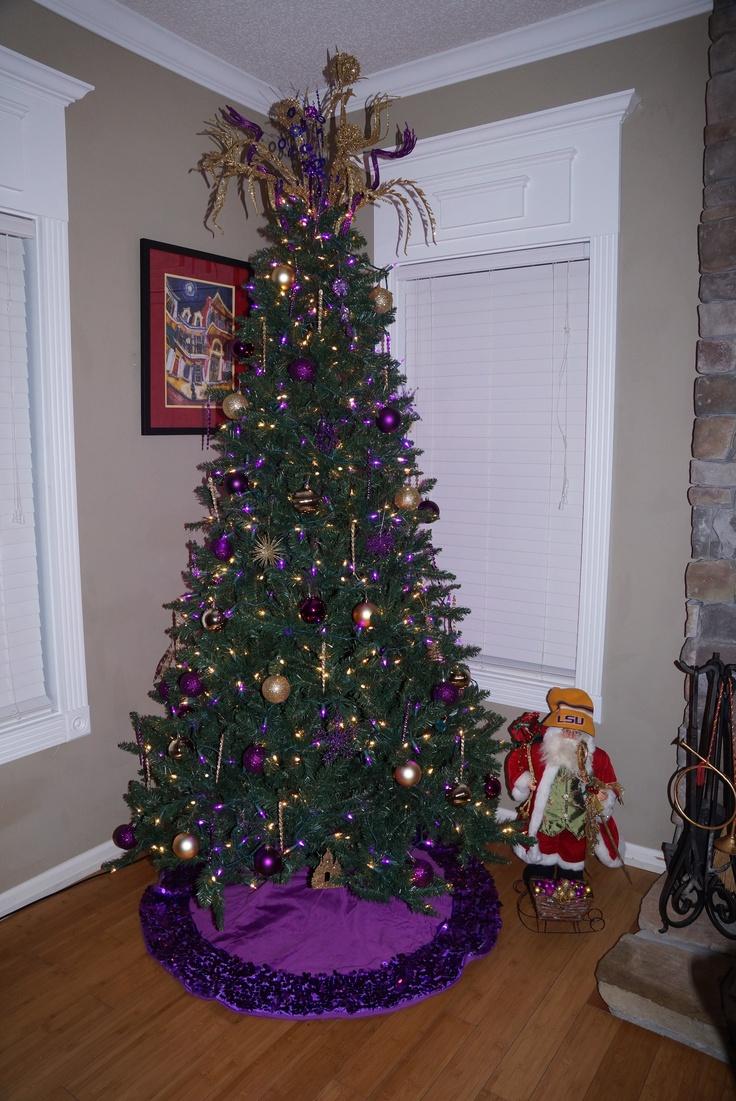 LSU Christmas Tree Designed By Malinda!