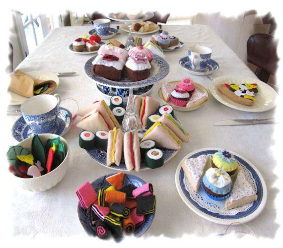 Tea Party Felt Food, Felt Chocolate Sweets, Play Food Desserts