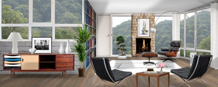'#NeybersView - California Mid-Century Modern Bungalow' created by Ruby Soho in #neybers