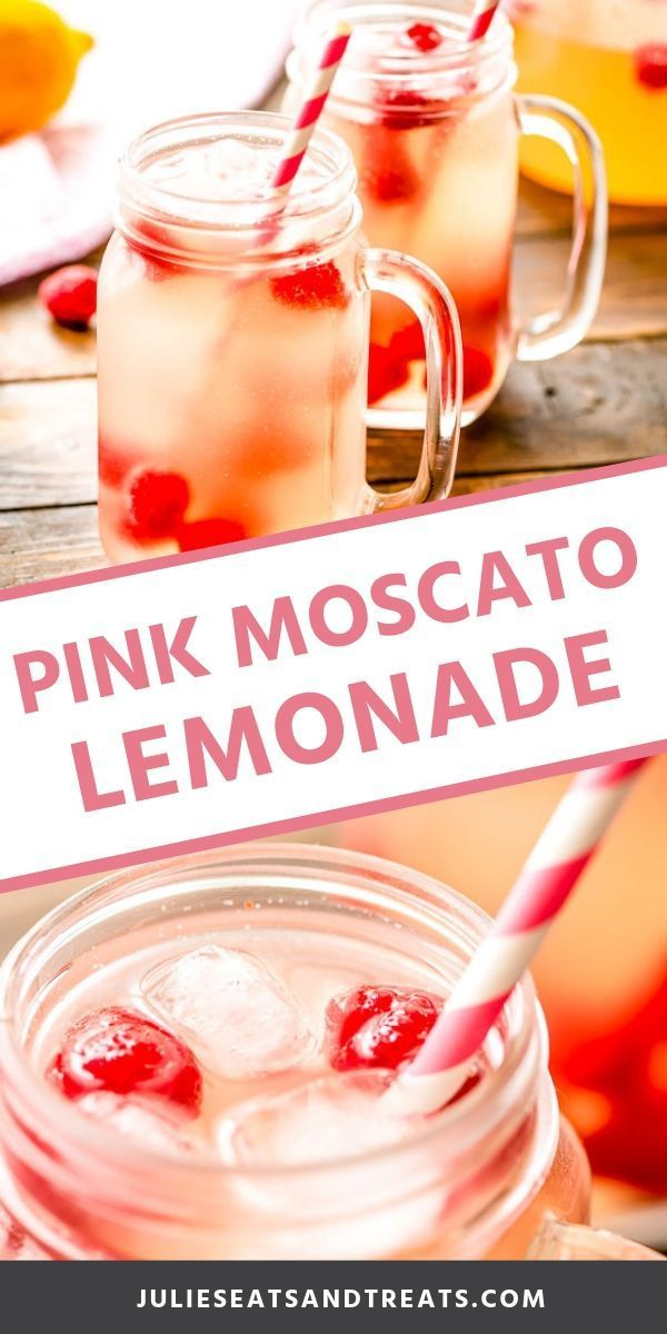 Pink Moscato Lemonade is a delicious big batch party cocktail recipe! A slightly…