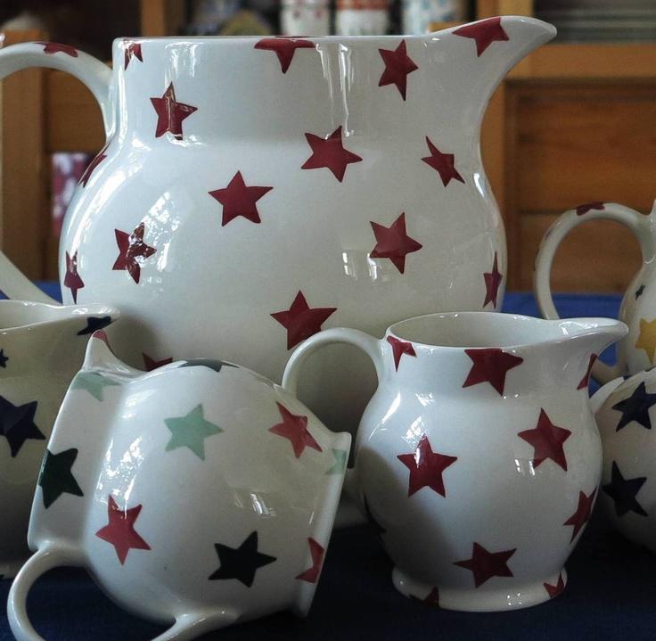 Emma Bridgewater Red Star jugs