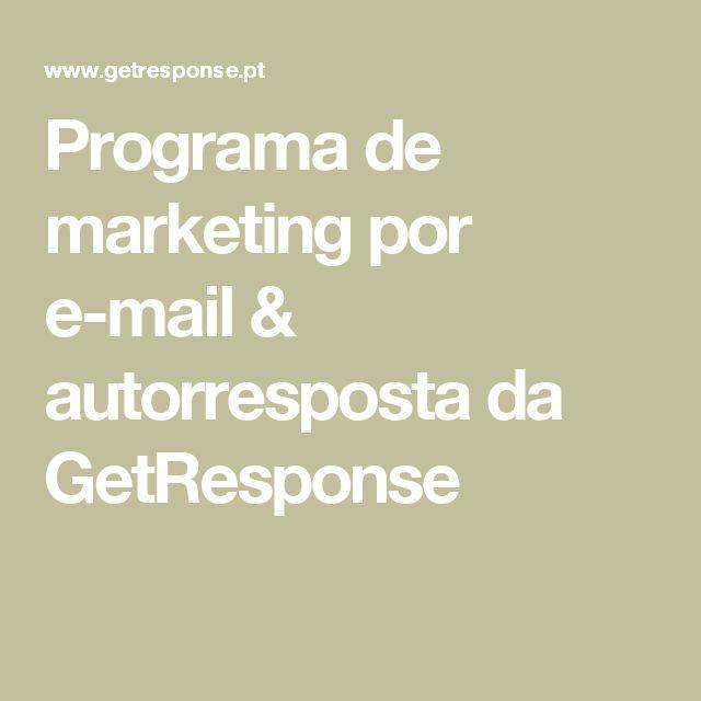 Programa de marketing por e-mail & autorresposta da GetResponse