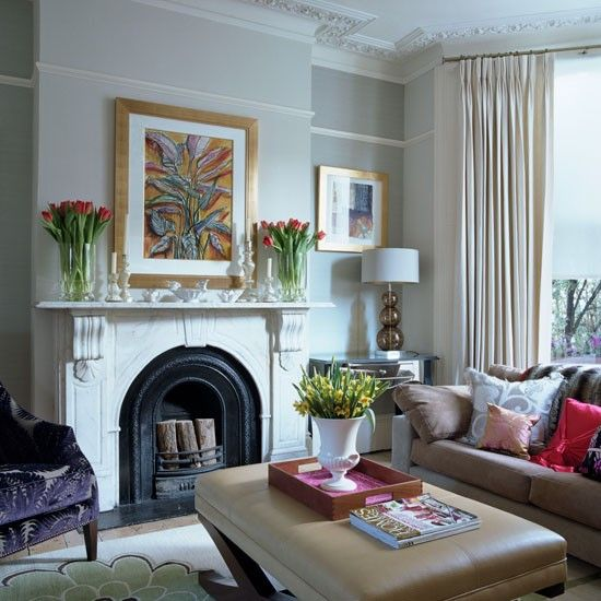 Step inside designer andrea maflin 39 s unique home gardens for Victorian living room design ideas