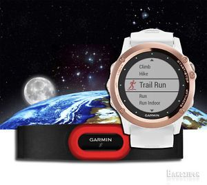 Garmin-Fenix-3-Sapphire-Rose-Gold-White-Band-w-HRM-Run-Running-Sports-GPS-Watch