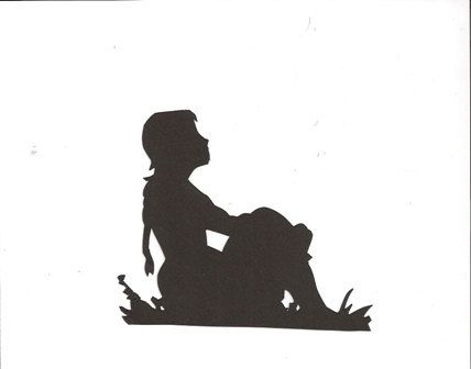 in deep thought little girl silhouette by hilemanhouse on etsy 199
