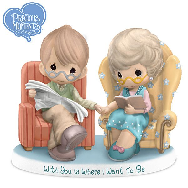 "Precious Moments Figurine ""With You Is Where I Want To Be Figurine"""