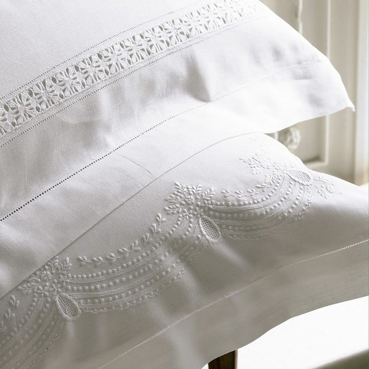 Francesca Linen Pillowcases | Luxury Linens and Bedding