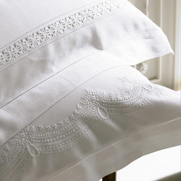 Francesca Linen Pillowcases | Luxury Linens and Bedding