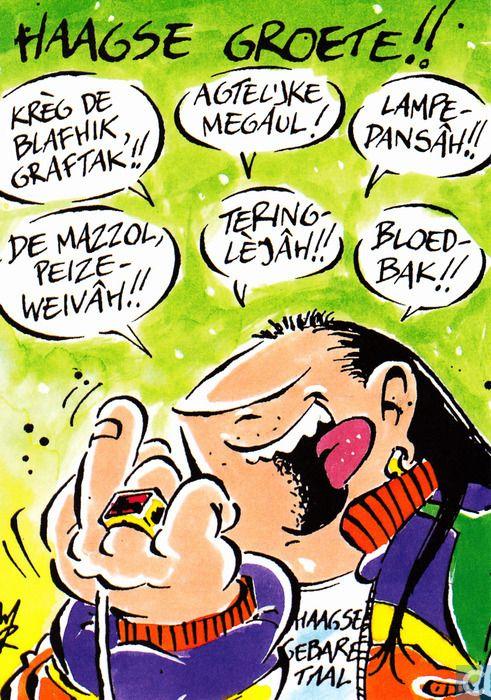 Ansichtkaarten - Strips: Haagse Harry - Haagse groete!!