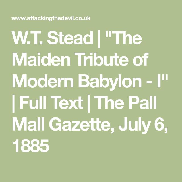 """W.T. Stead 