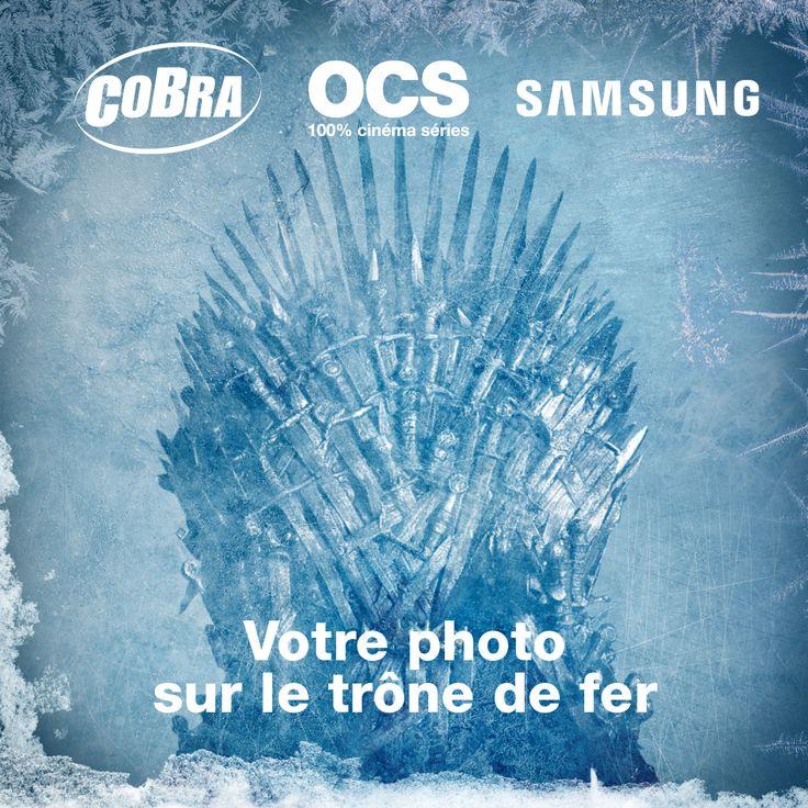 Le Trône de fer est arrivé ! Jusqu'au 13 juillet 2017, retrouvez l'authentique Trône de Fer chez Cobra Paris à l'occasion de la diffusion de la 7ème saison de Game of Thrones sur #OCS !  Devenez le roi ou la reine du royaume des 7 couronnes ! Cosplayeurs, fans de la série et curieux sont les bienvenus pour rassembler le royaume !  | #GOT #GameOfThrones #LeTroneDeFer #GoTs7 #WinterIsHere #LeTroneDeFerEstChezCobra #Cosplay #OCS #Samsung  @SamsungFrance @OCSTV