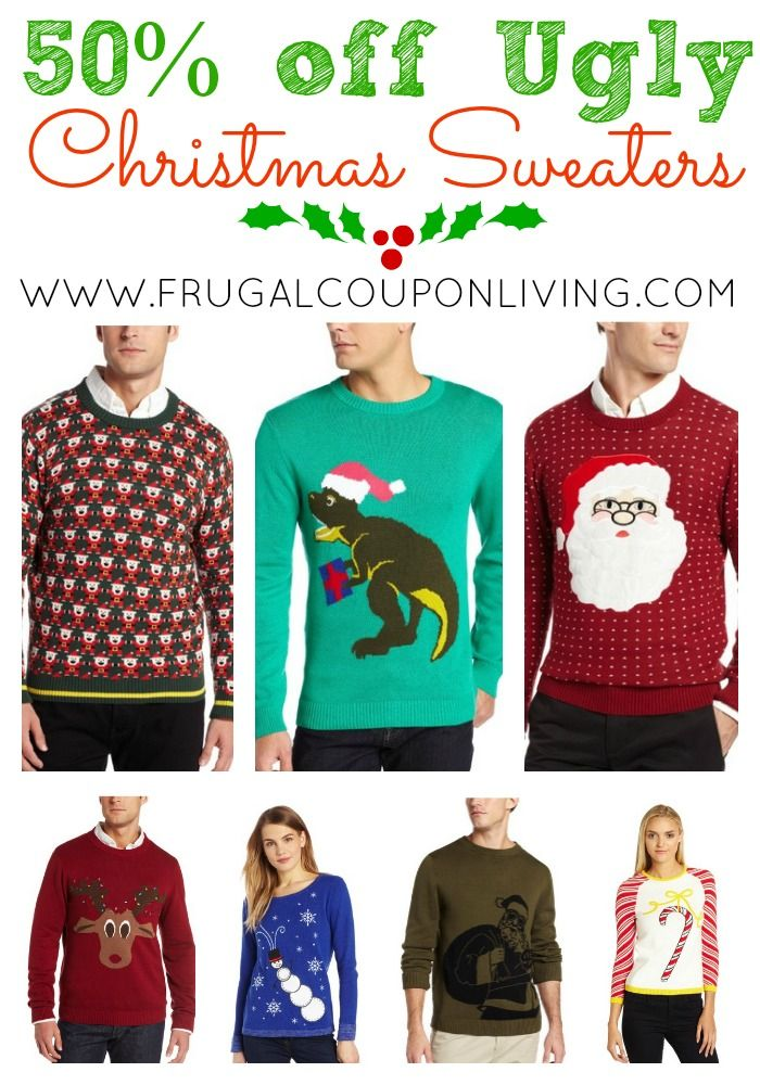 Ugly Christmas Sweater Sale - Men and Women's Sweaters at 50% off