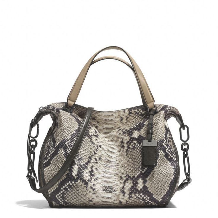 The Madison Smythe Satchel In Diamond Python Leather from Coach