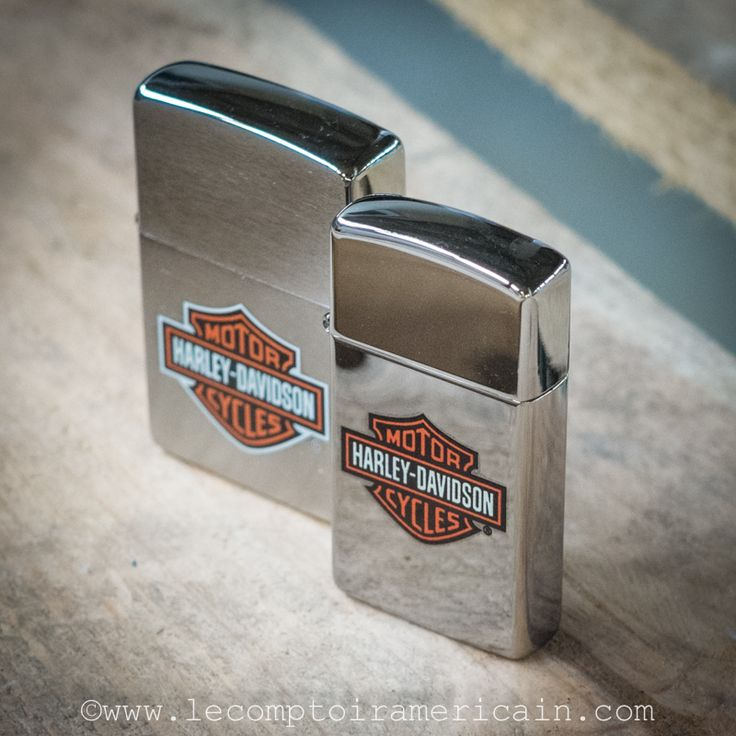 Briquets Zippo Harley Davidson en format classic et Slim #briquet #Zippo #Harley #HarleyDavidson #madeinUSA #lecomptoiramericain #lighter #Moto #motorcycle #icône #icon #americandesign