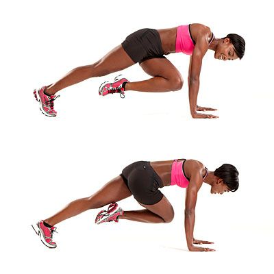 "How to do the Mountain Climber exercise. So I know what I'm doing during some of those ""First Thing In The Morning"" 15 minute work outs! :-)"