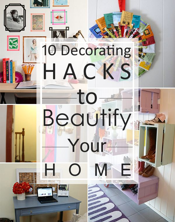 Diy apartment decorating crafts for the home.