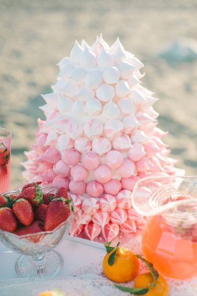 Meringue 'cake': http://www.stylemepretty.com/destination-weddings/2015/03/13/spanish-seaside-bridal-inspiration/   Photography: Renee Hollingshead - http://www.reneehollingshead.com/