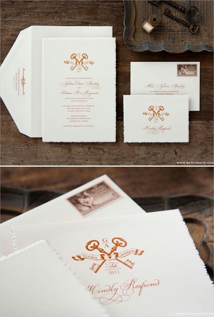 22 best Key Wedding Invitation images on Pinterest   Wedding ...