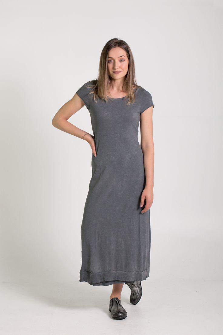Rundholz Dip | Et Vous | Grey Metallic Dress