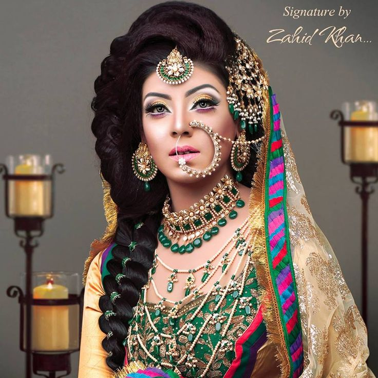 Latest Bridal Makeup By Zahid Khan