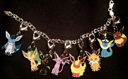 pokemon+jewelry | pokemon jewelry bracelet eevee jolteon flareon vaporeon espeon umbreon ...