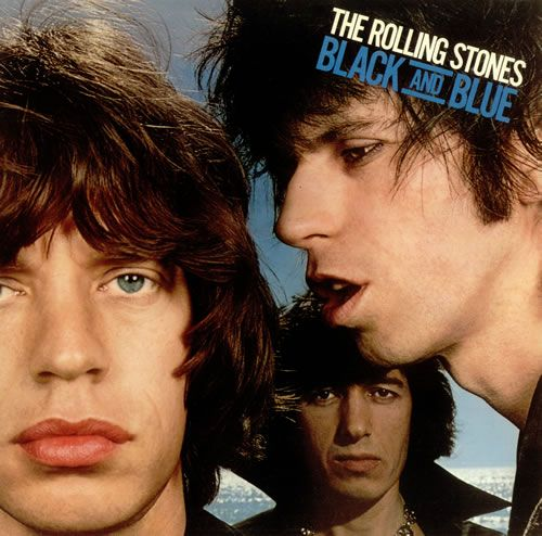 """""""Black And Blue"""" (1976, Rolling Stone Records) by The Rolling Stones.  First LP with Ron Wood."""