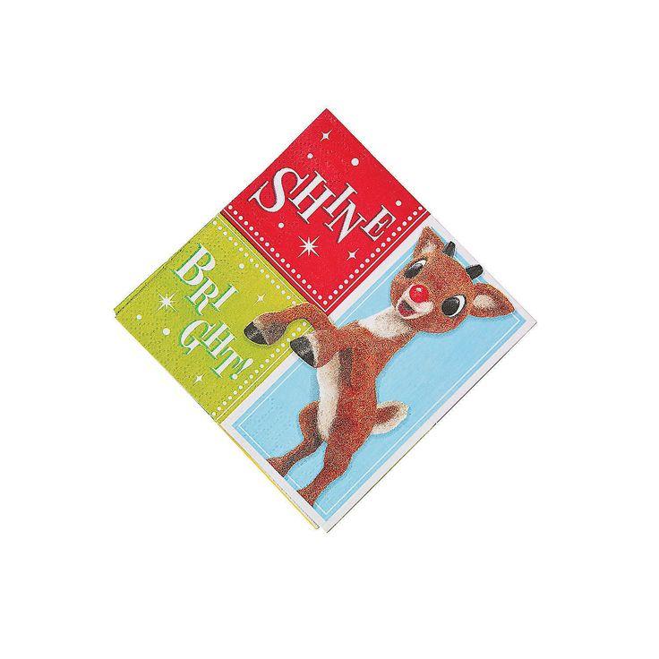 Rudolph+the+Red-Nosed+Reindeer®+Beverage+Napkins+-+OrientalTrading.com