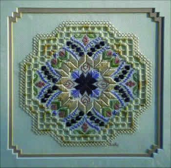 Daydreams (Hardanger) by Judy Dixon.  Very beautiful design.  I  love the color combinations.