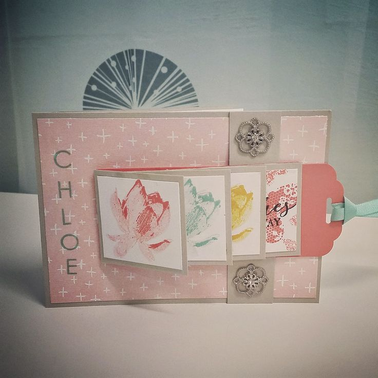 Kim's Paper Krafts - Stampin' Up Demonstrator: Lotus Blossom waterfall card