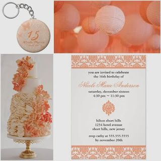 Peaches and Cream Sweet Fifteen Theme #quinceanera