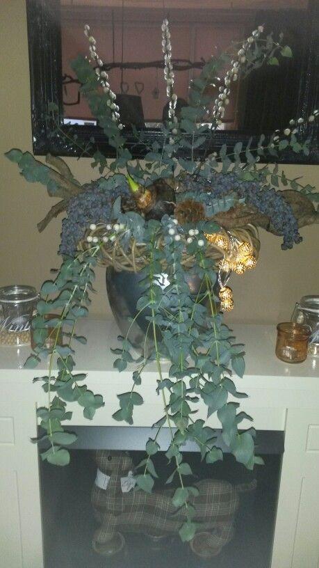 Met eucalyptustakken