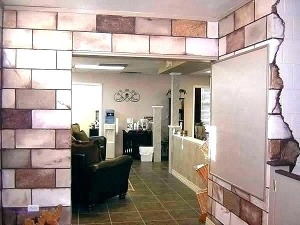Pin By Mel Johnson On Craft Room Concrete Block Walls Cinder Block Walls Basement Remodel Diy