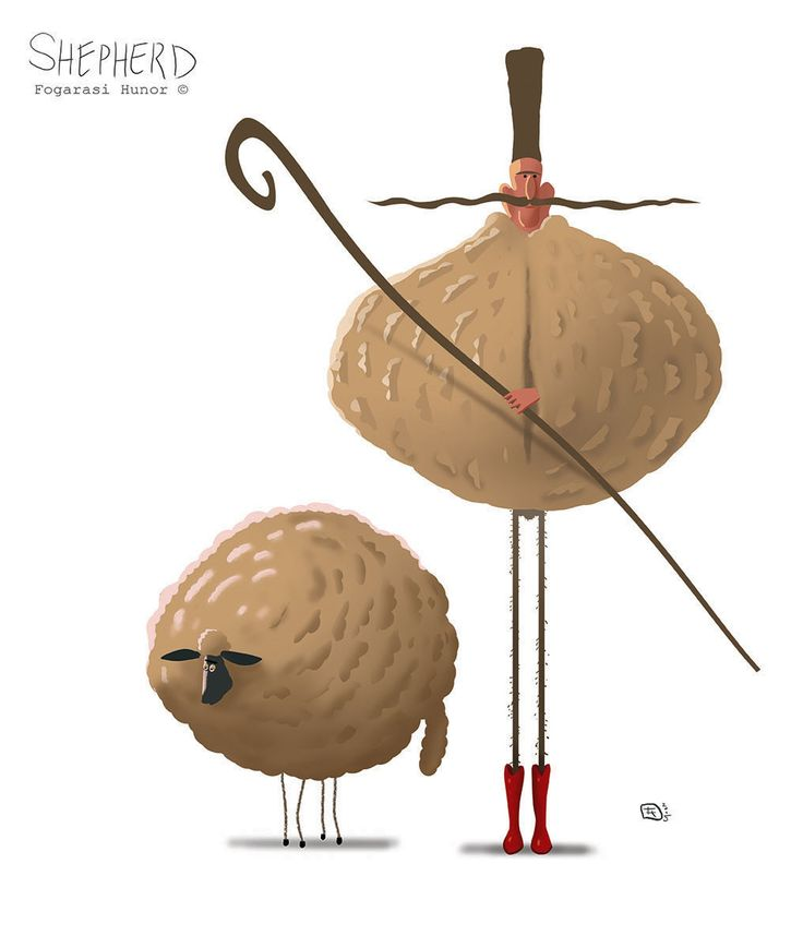 Sheepherd and sheep, Hunor Fogarasi on ArtStation at https://www.artstation.com/artwork/Rqv6W