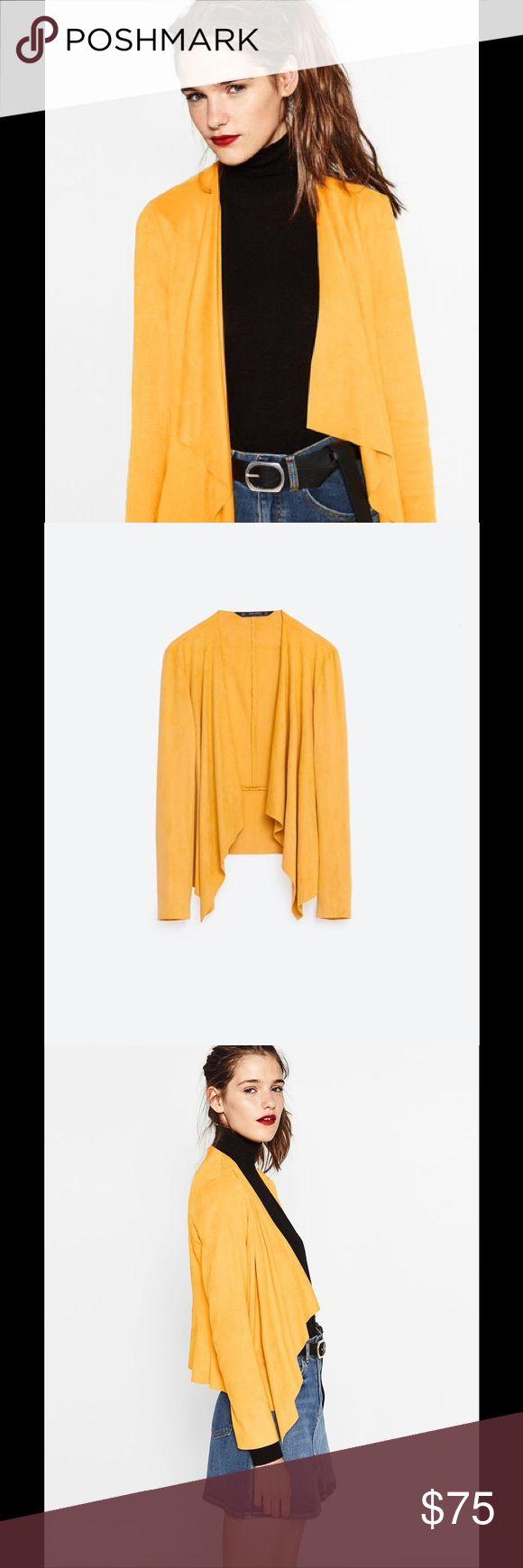 ZARA JACKET NWT!!! Waterfall Zara Jackets & Coats