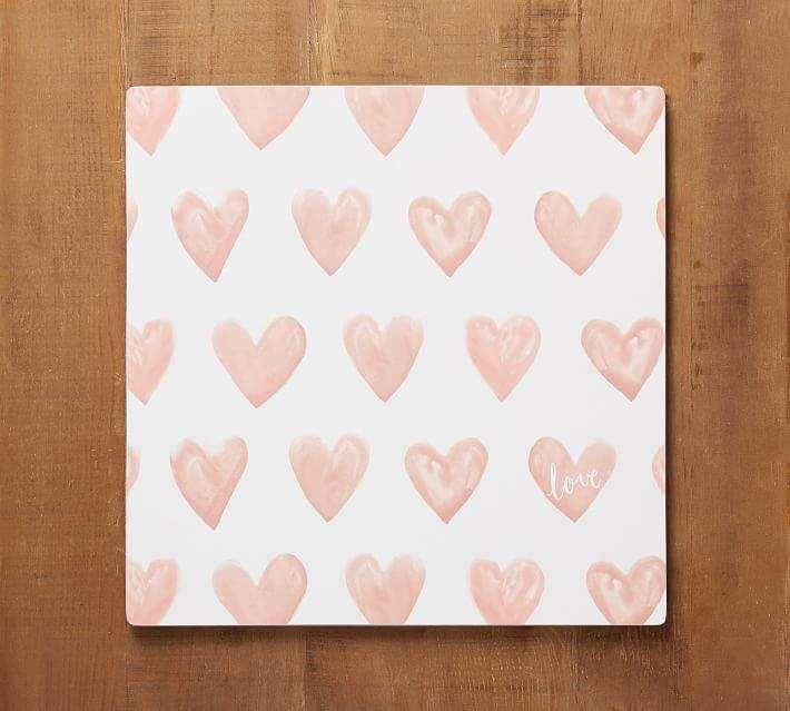 Heart Print Corkmat, Set of 4