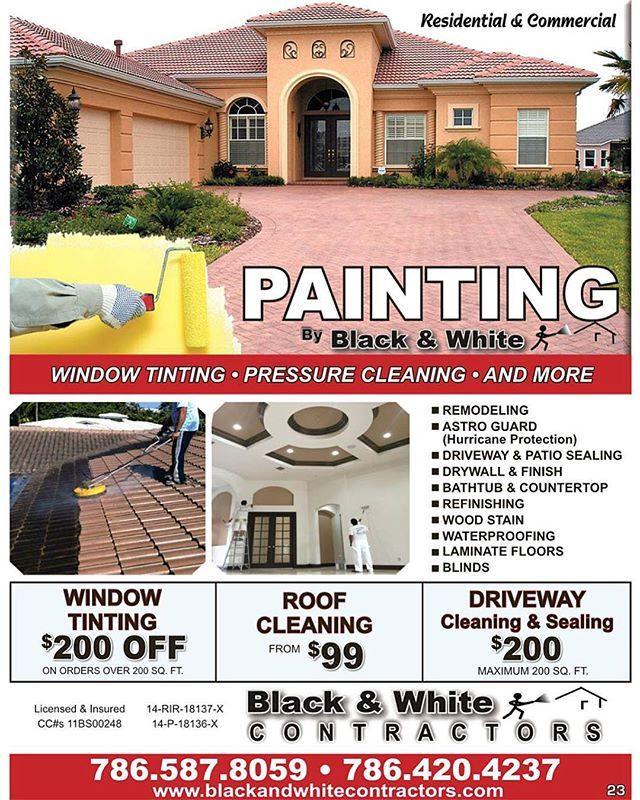 Black and White Painting Contractors has the #experience and knowledge necessary to make sure that your project is completed on time with #quality service and workmanship! 👌🏼 With years of skill and experience, they enjoy a #remarkable #reputation as a leading #painting company in South Florida! Call them today to take advantage of their #specials! 📲 #ResourceLivingMagazines ✨ #UpdateYourSpace - posted by Resource Living Magazines https://www.instagram.com/resourcelivingmagazines - See…