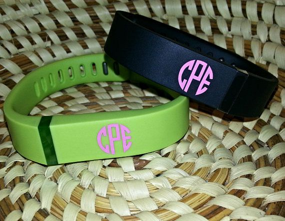 Fitbit Flex Monogram Decals by ShopSouthernBowtique on Etsy, $4.00